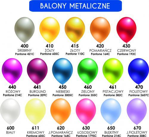 """Balon lateksowy 5"""" (cali) Metalik"""