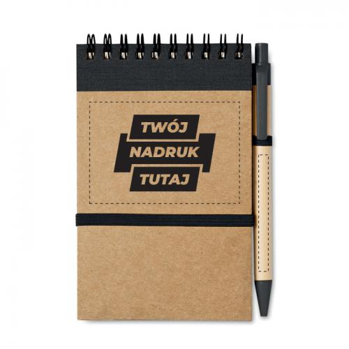 Notes z długopisem 70 kartek czarny