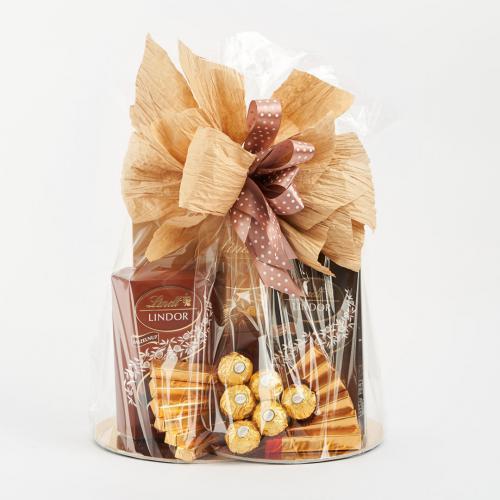 Kosz prezentowy - brązowy Lindt Brązowy
