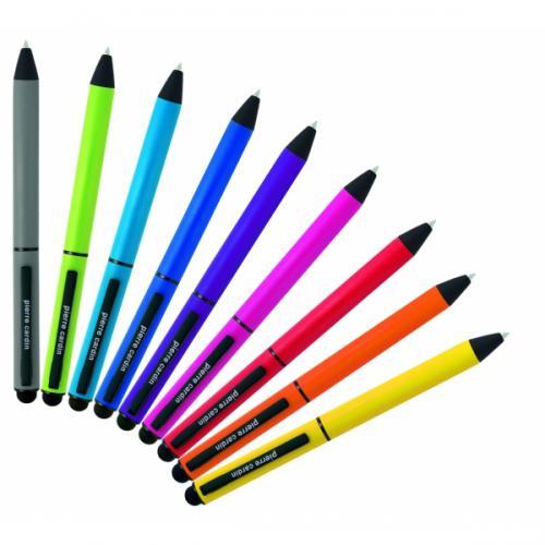 Długopis metalowy touch pen, soft touch CELEBRATION Pierre Cardin jasnozielony
