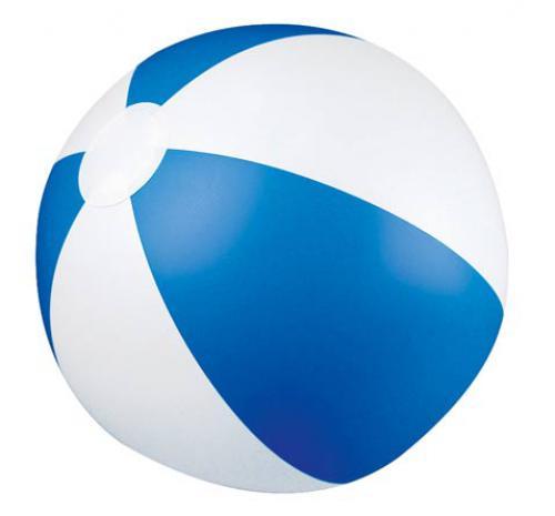 Piłka plażowa dwukolorowa KEY WEST niebieski
