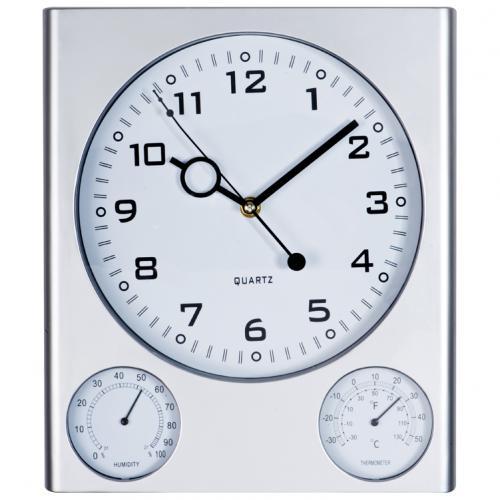 Zegar ścienny plastikowy DEN HAAG szary