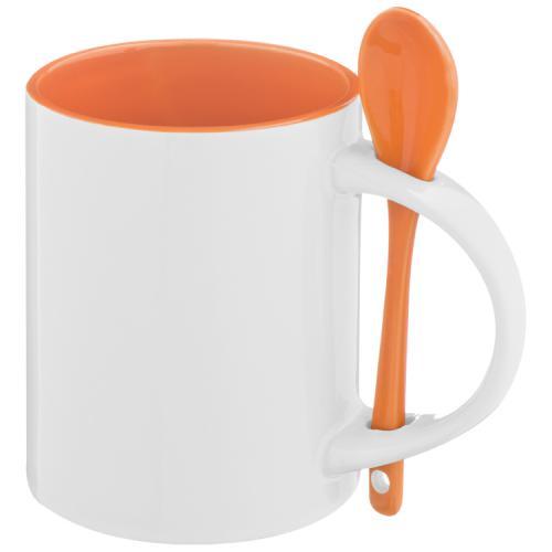 Kubek ceramiczny SAVANNAH 300 ml pomarańczowy