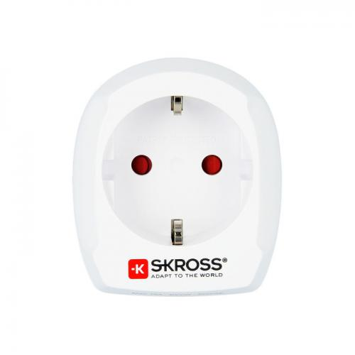 Adapter EUROPA na UK bez USB SKROSS Biały