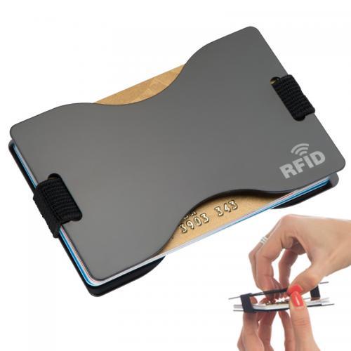 Etui na karty z ochroną RFID GLADSTONE czarny