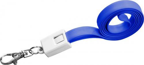 Smycz do transferu danych z micro USB LE PORT Niebieski