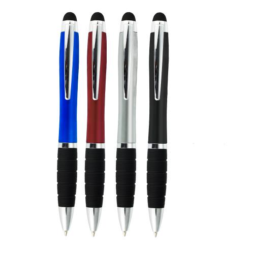Plastikowy długopis z podświetlanym logo (0540) Szary