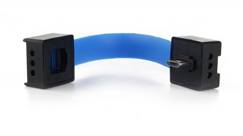 Kieszonkowa ładowarka micro USB na baterie AA Czarny