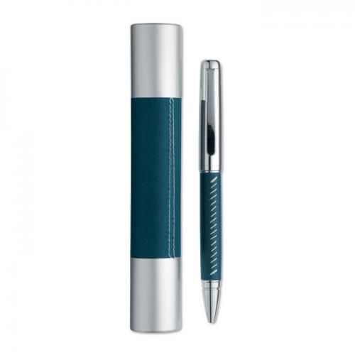 Długopis w aluminiowej tubie granatowy