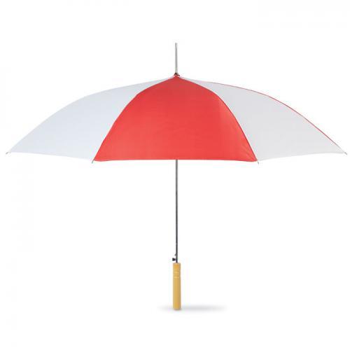 Dwukolorowy parasol czerwony
