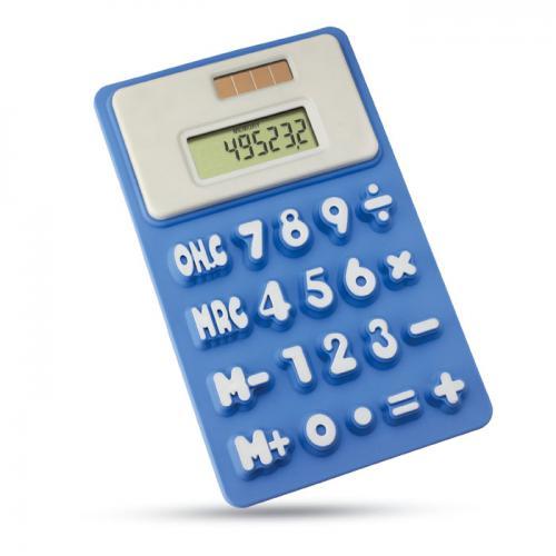 Kalkulator na baterię słoneczą granatowy