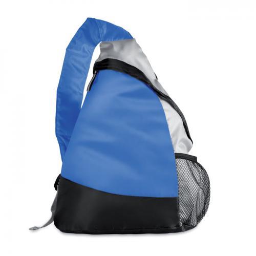 Kolorowy, trójkątny plecak granatowy