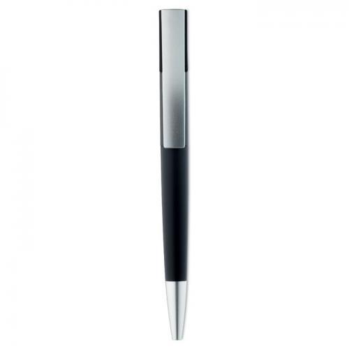 Przyciskany długopis. czarny