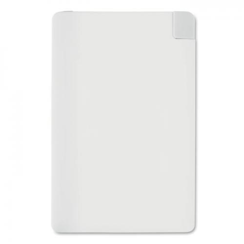 Powerbank karta kredytowa biały