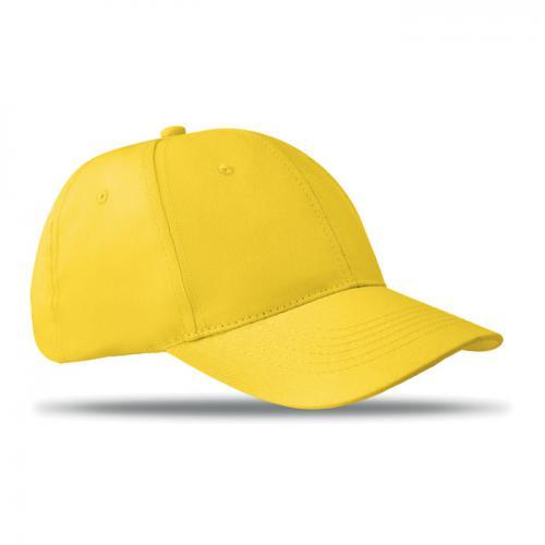 Czapka baseballowa 6 paneli żółty