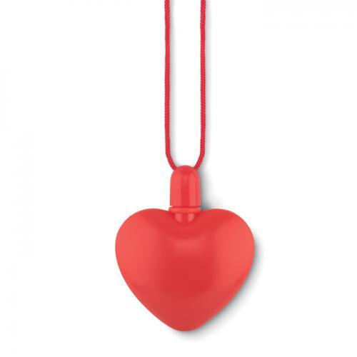 Bańki w kształcie serca czerwony