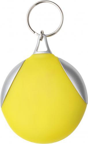 Brelok do kluczy ze ściereczką żółty