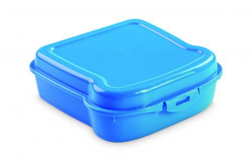 """Pudełko śniadaniowe """"kanapka"""" niebieski"""