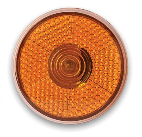 Okrągła migająca lampka LED pomarańczowy
