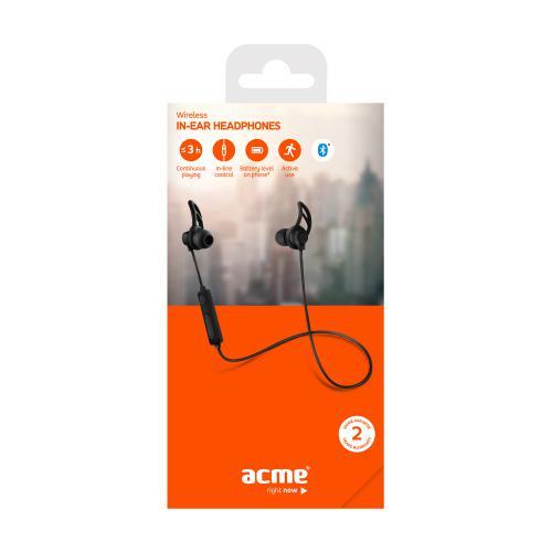 Bezprzewodowe słuchawki ACME BH101 Czarny