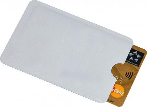 Etui na karty z ochroną RFID aluminiowe EDINBURGH biały