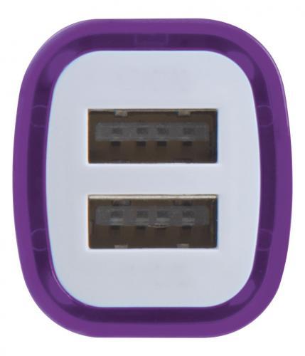 Ładowarka samochodowa USB FRUIT fioletowy