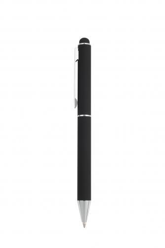 Długopis metalowy touch pen, soft touch CLAUDIE Pierre Cardin czarny