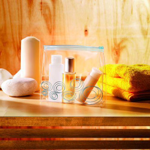 Kosmetyczka na suwak granatowy