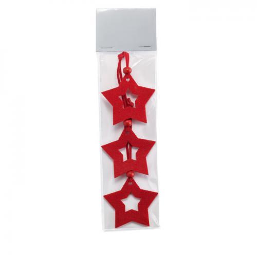 Filcowe zawieszki, gwiazdki czerwony