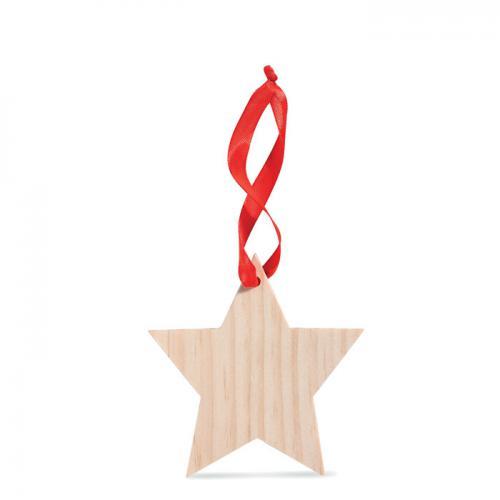 Zawieszka w kszatłcie gwiazdki drewna
