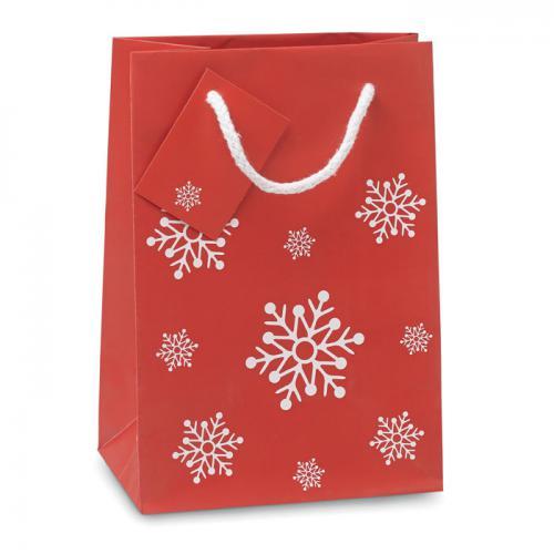 Torba na prezenty - mała czerwony