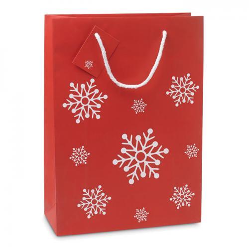 Torba na prezenty - duża czerwony