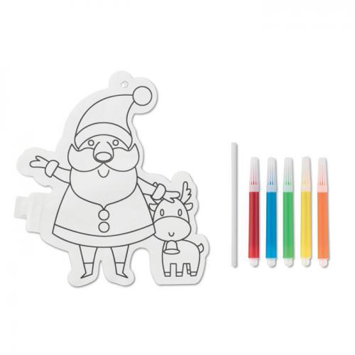Balon Mikołaj do kolorowania biały