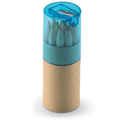 12 kredek w tubie przezroczysty niebieski