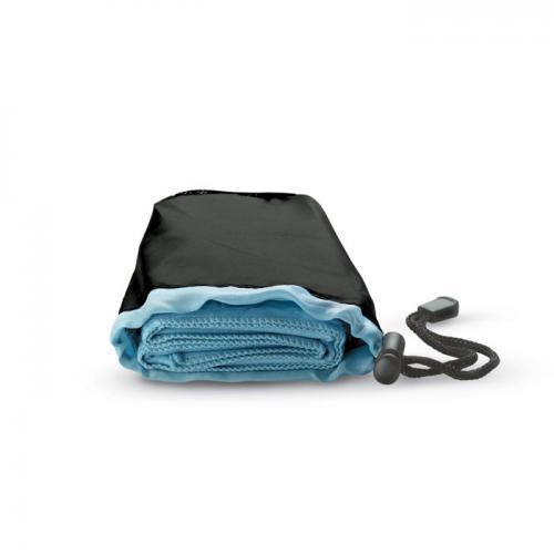Ręcznik sportowy w etui granatowy