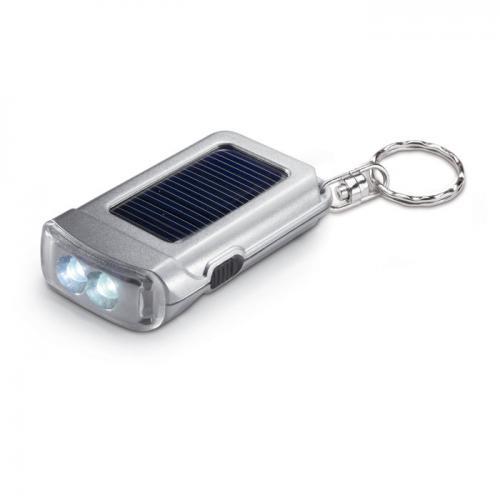 Breloczek do kluczy z latarką srebrny mat