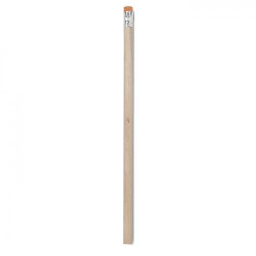 Ołówek z gumką pomarańczowy