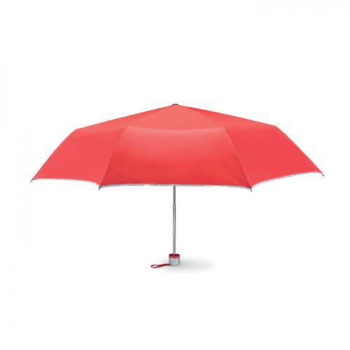 Parasol składany na 3 czerwony