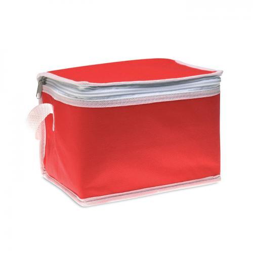 Torba chłodząca na 6 puszek czerwony