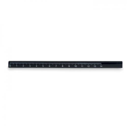 Ołówek stolarski z linijką czarny