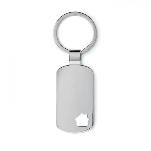 Brelok do kluczy / domek srebrny mat