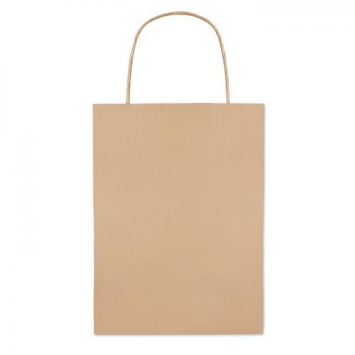 Paprierowa torebka ozdobna mał beżowy