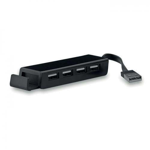 Hub USB / uchwyt na telefon czarny