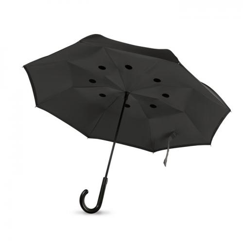 Odwrotnie otwierany parasol czarny