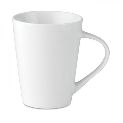 Porcelanowy kubek stożkowy biały