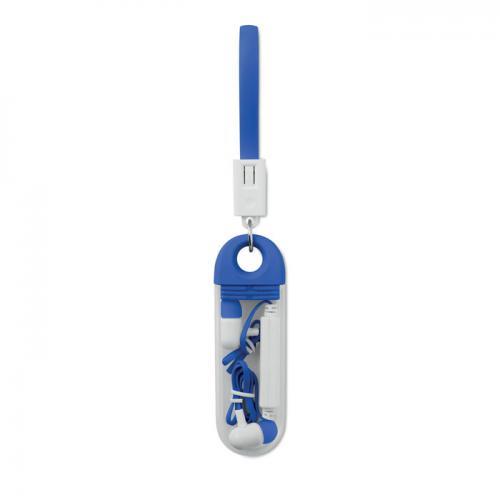 Słuchawki bluetooth niebieski