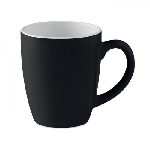 Kolorowy kubek ceramiczny czarny