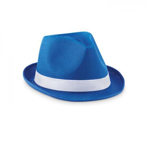 Kapelusz poliestrowy niebieski