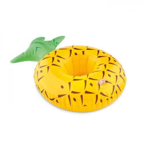 Dmuchany uchwyt na puszkę żółty