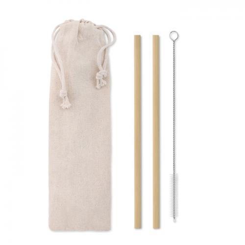 Słomka bambusowa beżowy